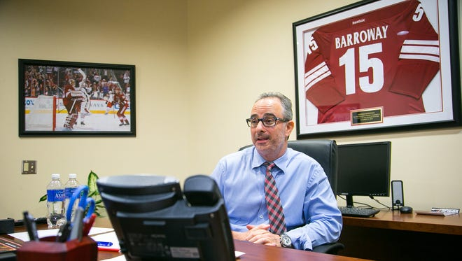 Arizona Coyotes majority owner Andrew Barroway at his office at Gila River Arena in Glendale on Tuesday, June 9, 2015.