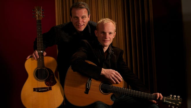 Loren Barrigar and Mark Mazengarb perform Thursday as part of Falling Waters Music Camp.