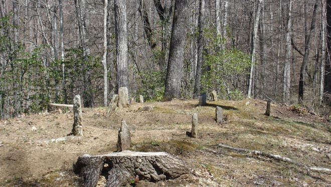 Lower Noland Cemetery, located in the North Shore area of Great Smoky Mountains National Park, is shown in this 2010 photo.