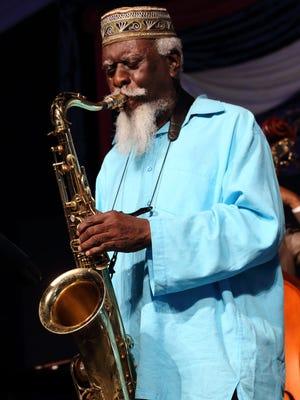 Tenor saxophonist Pharoah Sanders performs  on Friday, May 2.