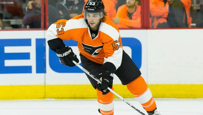 Shayne Gostisbehere played in his fourth NHL game Tuesday night, but already he's running the Flyers' top power-play unit.