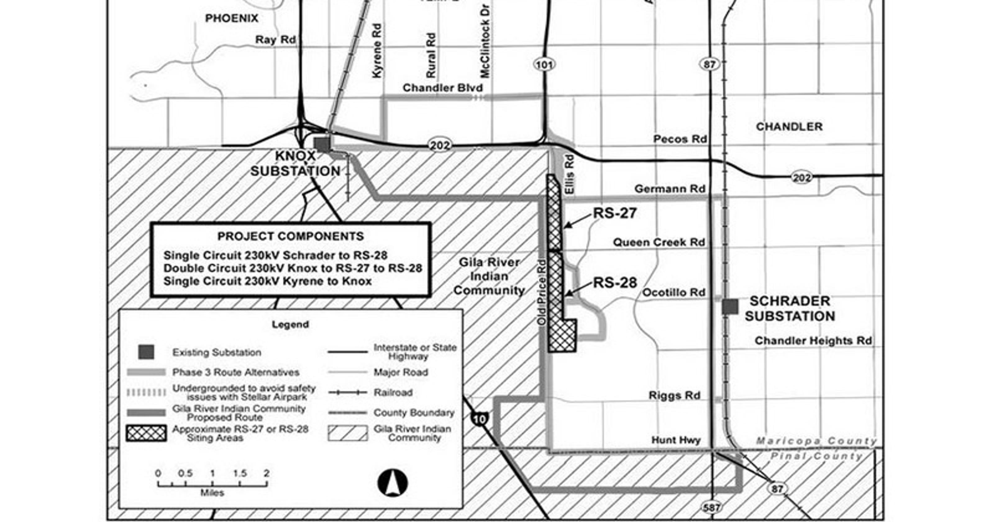SRP updates Chandler high-voltage power line proposal