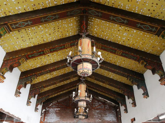 Renovation revealed 88-year-old, large chandeliers