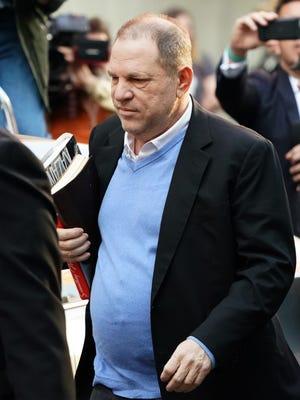 Harvey Weinstein surrenders to authorities May 25, 2018, in New York.