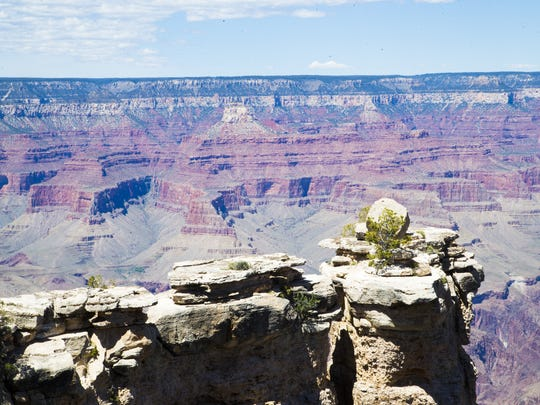 View of Grand Canyon National Park from Mather Point on April 29, 2015.