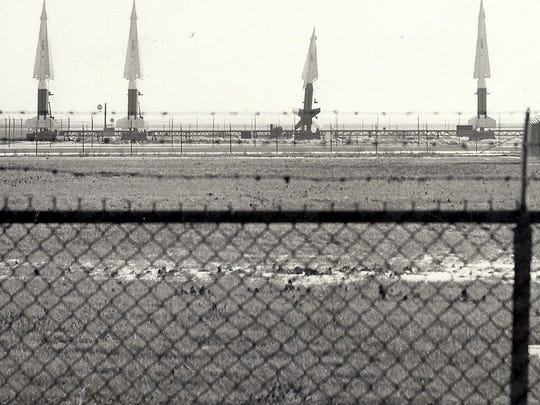 Four Nike Hercules missiles were poised, at the lakefront site where the Summerfest grounds are now located, in 1965. Radar facility for this site was in Lake Park, about a mile north.