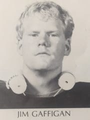 Jim Gaffigan was an offensive guard and tackle for