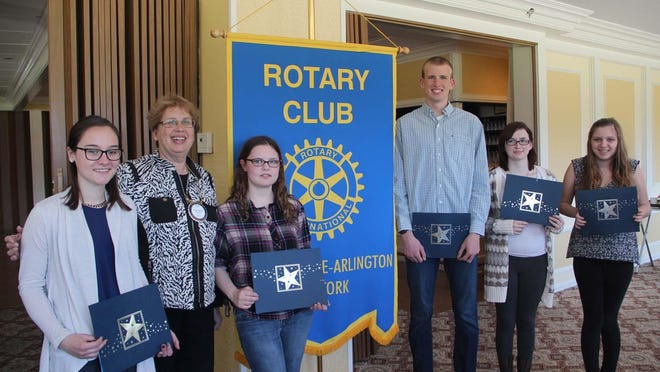 From left to right: Sidney Scoralick, Eleanor Charwat (Rotaran), Michaela Wyckoff, Brendan Foley, Kellsey Creelman and Amanda Morgantini.
