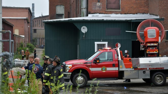 A fire Monday at an old mill complex in Clinton was blamed on an industrial oven.
