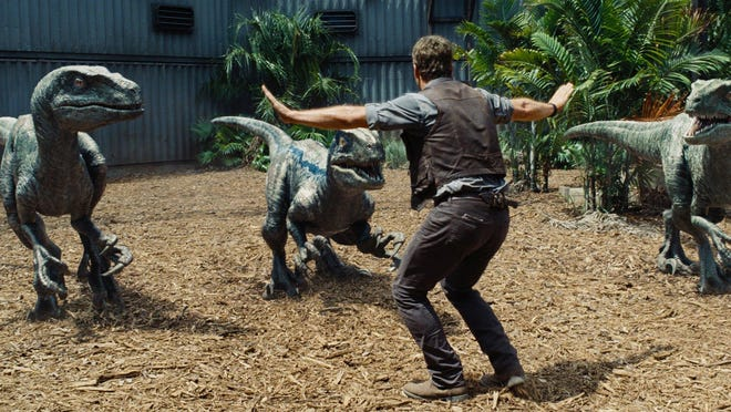 "Chris Pratt stars in ""Jurassic World,"" which was tops at the box office in 2015."
