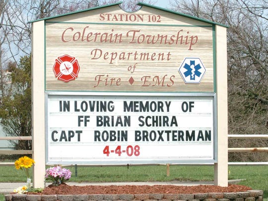 Firefighter Brian Schira and Colerain Township Capt.