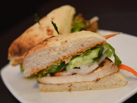 The Grilled Tofu Banh Mi is pictured at Pika's Cafe