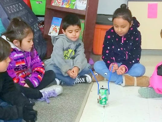 robots at Mescalero STEM
