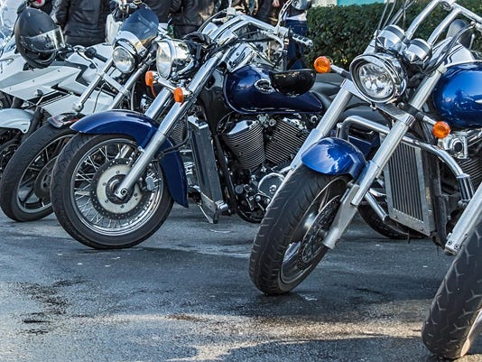 Front view of motorcycles