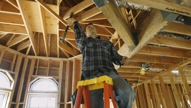 New housing starts were at their highest level in eight years in November, according to the National Association of Home Builders.