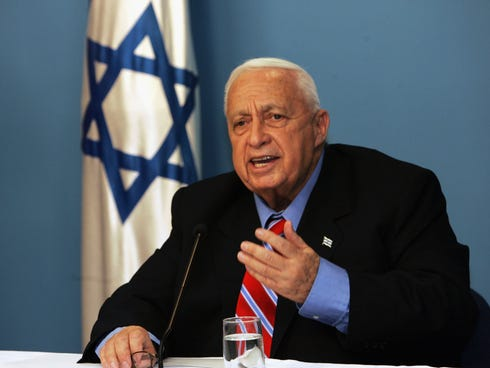 Israeli Prime Minister Ariel Sharon gives a press conference regarding his political plans in his office Nov. 21, 2005, in Jerusalem.