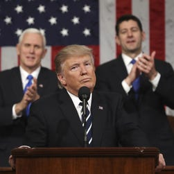 Trump speech breathes new life into Trump Rally: Dow hits 21,000 for 1st time