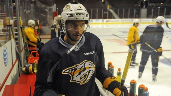 Seth Jones spent his first two NHL seasons sharing a Brentwood home with his mother.