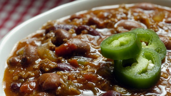 Enjoy some delicious chili.