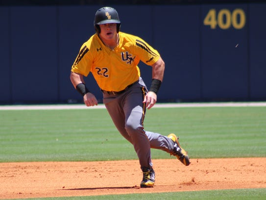 Southern Miss' Taylor Braley runs the bases during