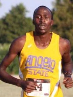 Sophomore transfer Laban Kandie runs for Angelo State cross country in 2017.