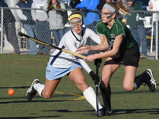 Annie Judge (left) is among the leaders for Cape Henlopen, which is ranked No. 1 in Division I field hockey.