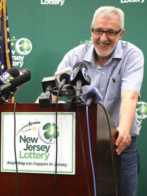 Tayeb Souami of Little Ferry is introduced as the $ 351.3 million Powerball winner who buys the winning ticket in Hackensack.