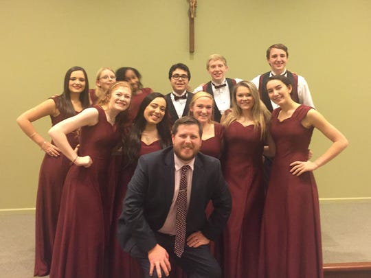 The St. Elizabeth High School Viking Chorus, led by Jeff Dietzler, participated in the annual All Catholic Christmas Concert at Salesianum.