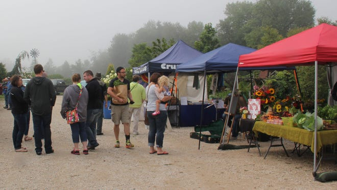 A little fog didn't stop visitors to the Kewaunee County Farmer's Market last year.  The market opens for its third season this Sunday.