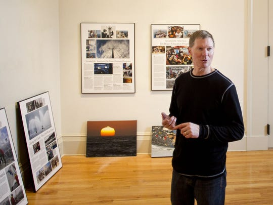 Oceanic explorer and Iowa native David Thoreson discusses his new exhibit at the Gallery for Arts, Humanities, & Sciences Jan. 21 at the Old Capitol Museum in Iowa City.