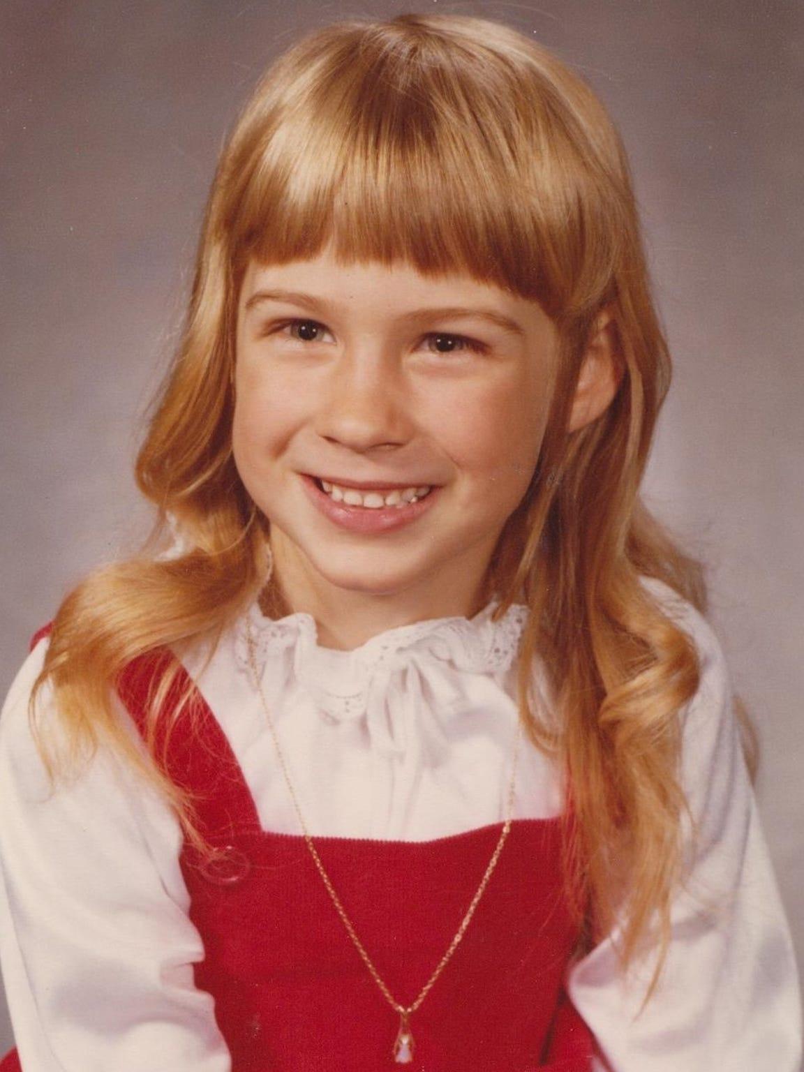 Heidi Wolfe in roughly sixth grade.