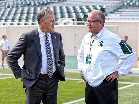 Michigan State Spartans head coach Mark Dantonio talks