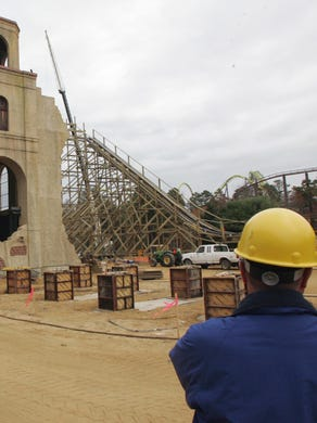 2005: Construction project manager Al Rubano surveys the El Toro site at Six Flags Great Adventure.