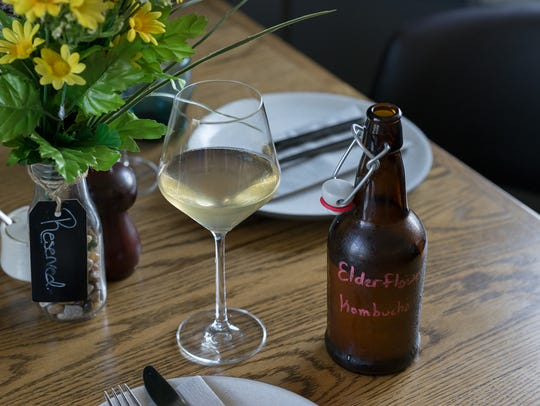 Elderflower Kombucha served at Common Lot in Millburn