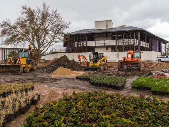 The new Engelstad Shakespeare Theatre is still under