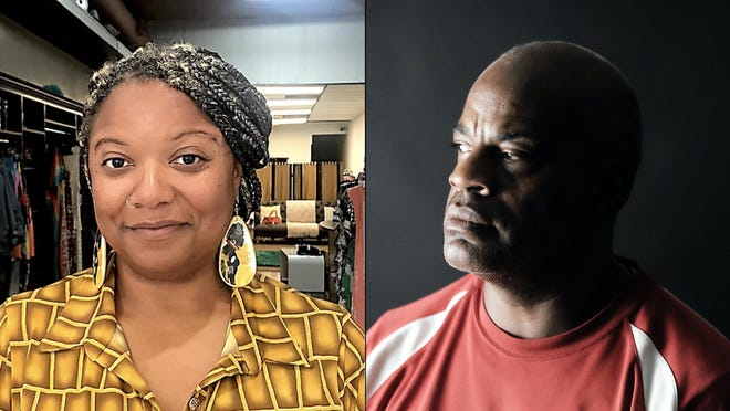 """District 1 Richmond County Board of Education candidates Shawnda Griffin, left, and Brian """"Coach"""" Green."""