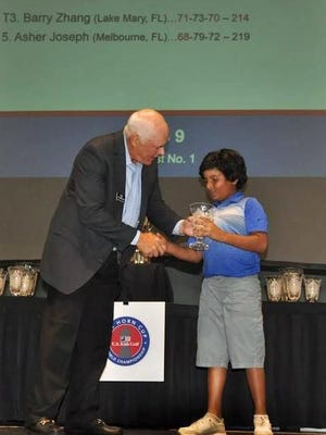 Asher Joseph took fifth place in the U.S. Kids Golf World Championships.