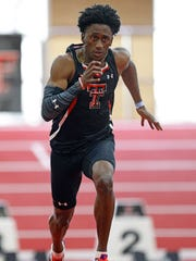 Texas Tech's Charles Brown has added running a leg