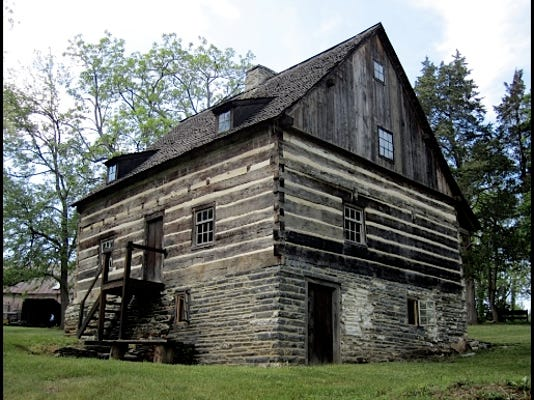 Mid-18th Century Germanic Log House on the grounds of the Historic Hellam Preserve (S. H. Smith, 2015)