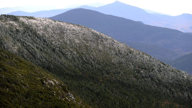 A view of the south end of Mount Mansfield from Underhill State Park in this 2009 photo.