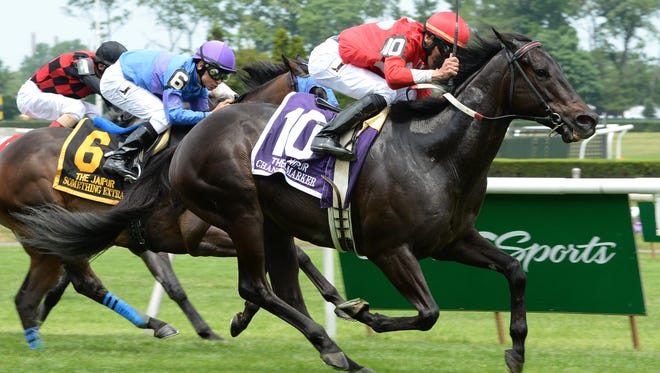 Channel Marker defeated Something Extra by a length in Saturday's Grade III Jaipur on the Belmont Stakes undercard.