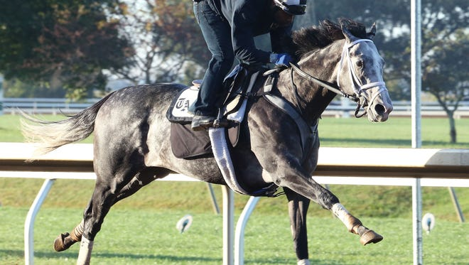 Liam's Map worked five-eighths of a mile in 1:00 1/5 Sunday at Keeneland under Nick Bush.