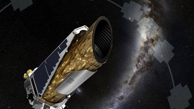 An artists depiction of the Kepler space telescope