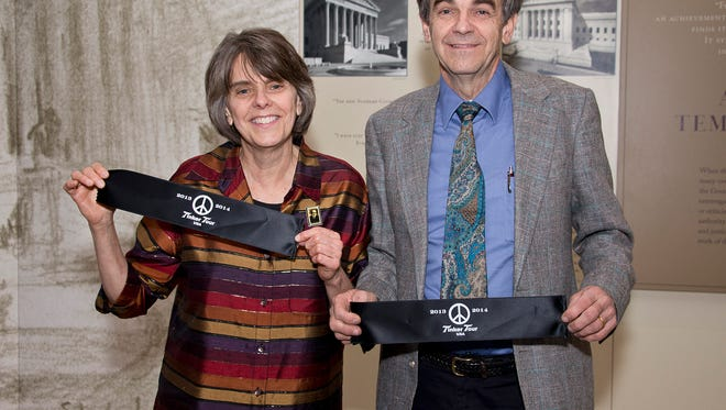 Sister and brother Mary Beth and John Tinker at the U.S. Supreme Court.