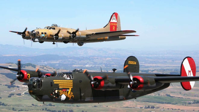 The B-17 Flying Fortress and the B-24J Liberator land in Lafayette late February.