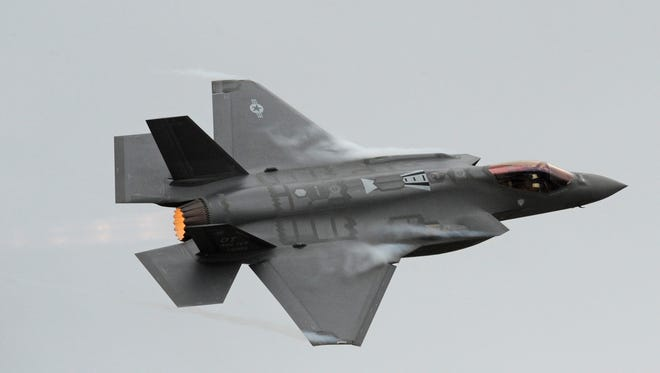 An F-35A Lightning II gets ready to land Sept. 13, 2013, at Hill Air Force Base, Utah. The jet will make an appearance at the OC Air Show on June 18-19, 2016.