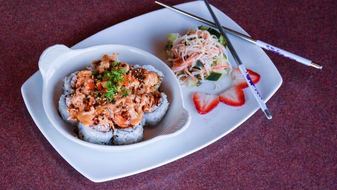 Ragin' Cajun roll from Shangri-La Restaurant, 4702 Johnston St.