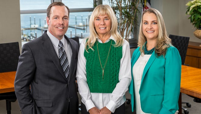 Pictured left to right: Timothy Hogan, president of Riverview Medical Center, Nancy Mulheren, outgoing board chair of Riverview Medical Center Foundation, and Jennifer Smith, senior executive director of Riverview Medical Center Foundation.