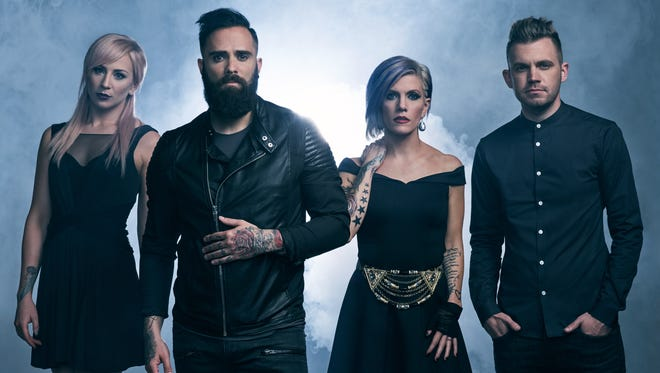 Memphis hard-rock group Skillet, fronted by singer and bass guitarist John Cooper, will perform Thursday at Tricky Falls.