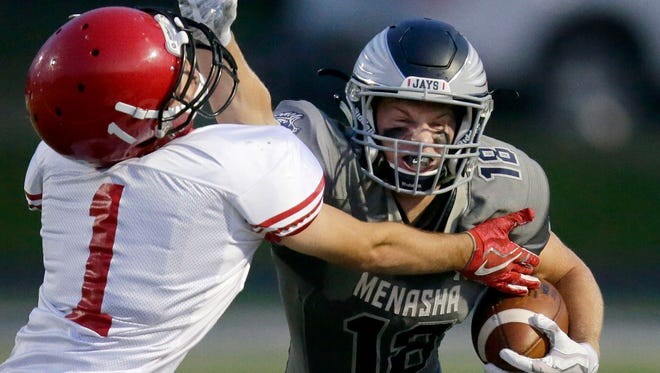 The Menasha football team would become a member of the two-division Fox River Classic Conference in a proposal floated by the Wisconsin Football Coaches Association. Ron Page/USA TODAY NETWORK-Wisconsin